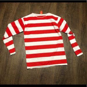 Where's Waldo Shirt Costume Top Size L/XL
